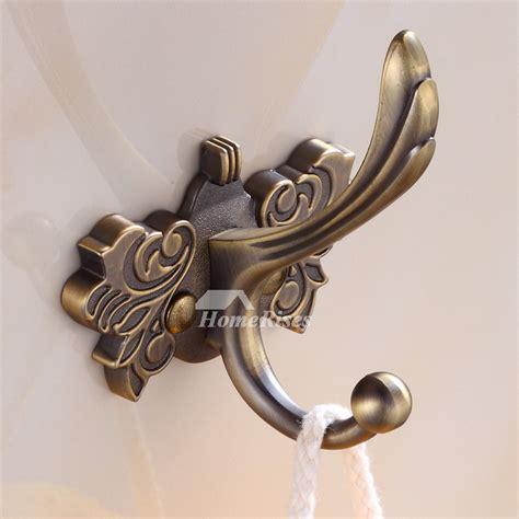antique brass robe hook wall mount zinc alloy