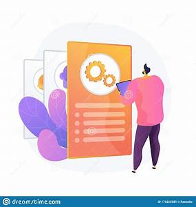 Instruction Manual  Guide Vector Concept Metaphor  Stock
