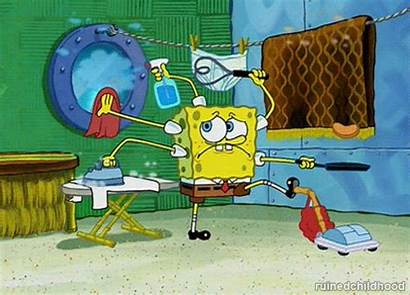 Cleaning Gifs Giphy Spongebob Chores Clean Busy