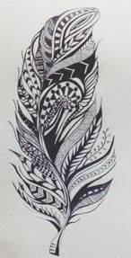 Tribal/Aztec Feather by Miilo18 on DeviantArt