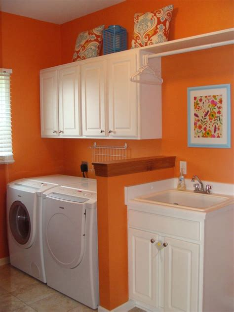 Orange Laundry Room  Xac's House  Pinterest Laundry