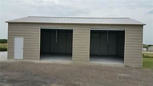 steel garage door prices metal garages steel buildings With 2 car garage metal building