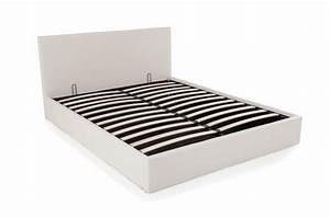 Lit Coffre Blanc : lit coffre 160x200 blanc mona design sur sofactory ~ Teatrodelosmanantiales.com Idées de Décoration