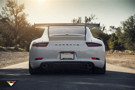 porsche back vorsteiner launches adjustable v gtx rear wing for porsche