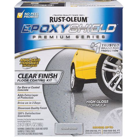 rustoleum garage floor clear coat rust oleum 292514 clear high gloss low voc premium garage