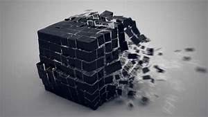 Full HD Wallpaper cube explosion composition, Desktop ...