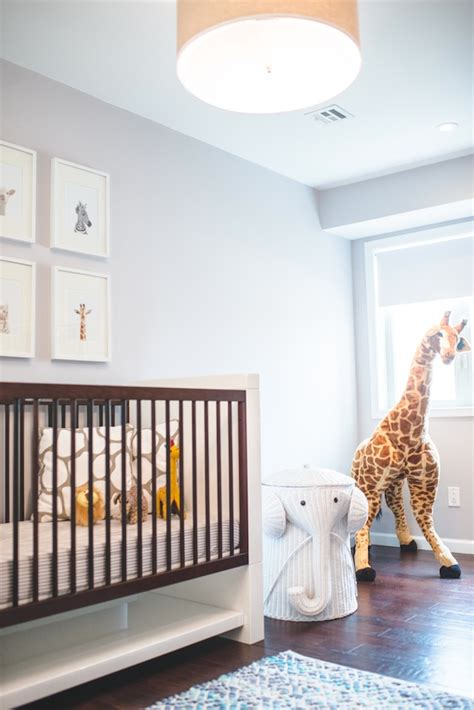 sneak  peek dillons safari nursery  effortless chic