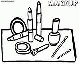 Coloring Makeup Pages Printable Face Template Kit Eyeshadow Colorful Skin Colorings sketch template