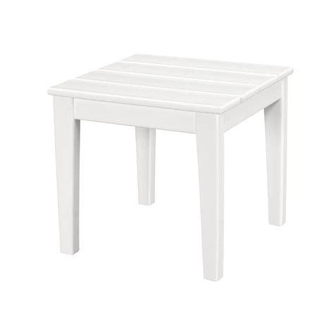resin outdoor side table polywood newport 18 in square plastic outdoor side table