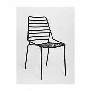 Chaise De Bar Exterieur : chaise d 39 ext rieur en m tal link ~ Teatrodelosmanantiales.com Idées de Décoration