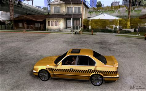 Mod Bmw S Gamemodding by Bmw E34 535i Taxi For Gta San Andreas