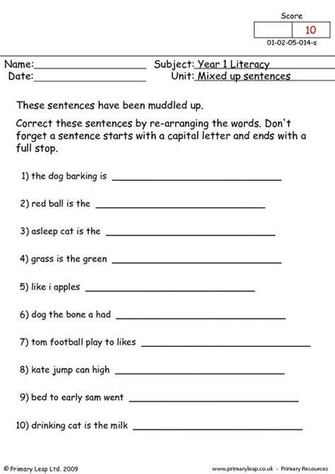 all worksheets 187 jumbled sentences worksheets for grade 9