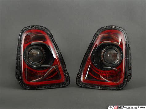 ecs news mini cooper r56 r57 r58 r59 black line taillights