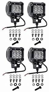 Led Pods  Dji 4x4 2pcs 4 Inch 72w Triple Row Led Light Bar