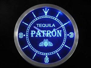 Amazon LED Neon Light Wall Clock PATRON TEQUILA BEER