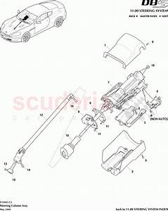 Aston Martin Dbs V12 Steering Column Assembly Parts