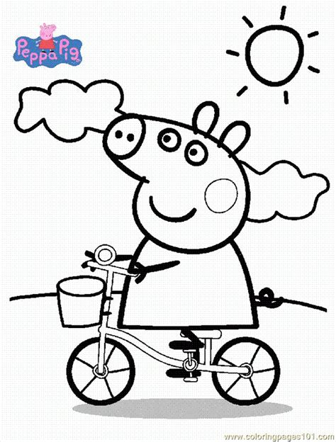 Coloring Pages Peppa Pig 001 (4) (Cartoons > Others