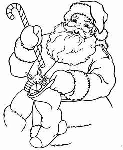 Santa Coloring Pages - 2018