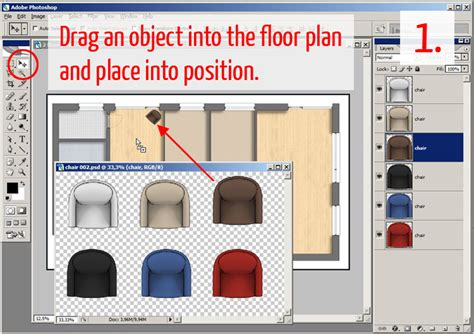 tutorial adding textures furniture  shadows  adobe