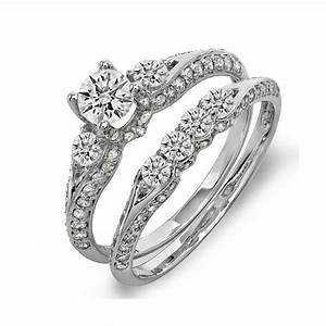 Lovely diamond wedding ring sets for her for Diamond wedding ring for him