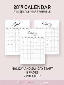 Printable Calenders 2019 Calendar Very Aesthetic Looking Calendar Simple