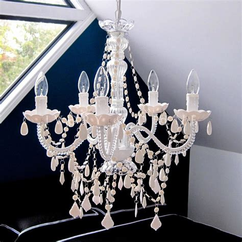 5 light crystal chandelier devotion 5 light white acrylic crystal chandelier buy