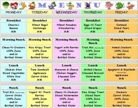 finding ideas for new meals for the through day care 455 | bfc2a51e8bacb6728d2625e105ae5e8b meal calendar toddler food