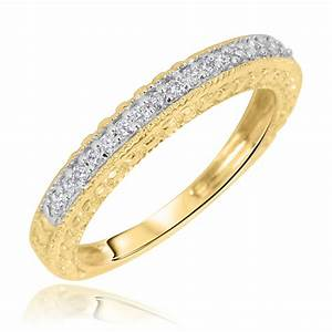 1 carat diamond trio wedding ring set 14k yellow gold my for 14k yellow gold wedding ring