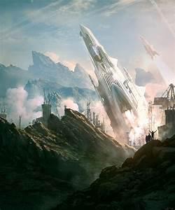 Sci-fi, Art, Machinery, Of, Light
