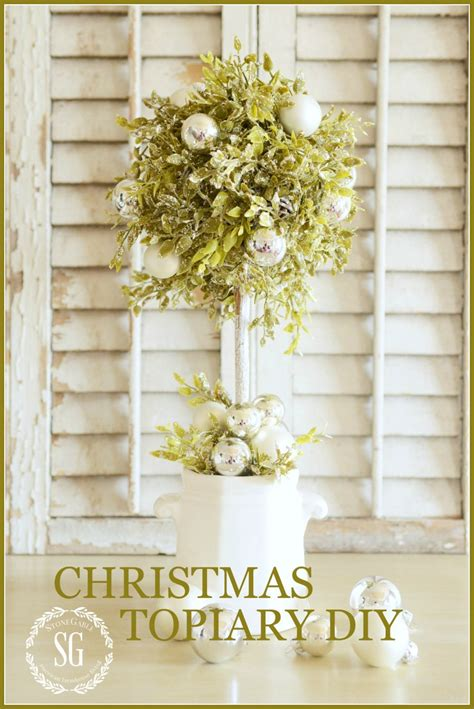 christmas topiary diy stonegable