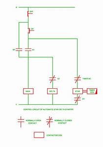 Control Circuit Of Automatic Star Delta Starter