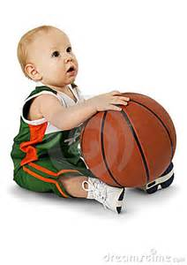Babies Playing with Basketball
