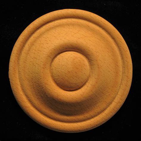 Rosette   Bullseye #12 carved wood