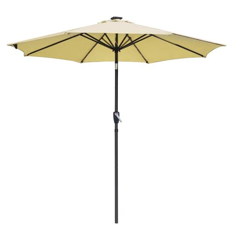 solar 9 lighted patio umbrella 9 patio solar umbrella led tilt aluminium deck outdoor