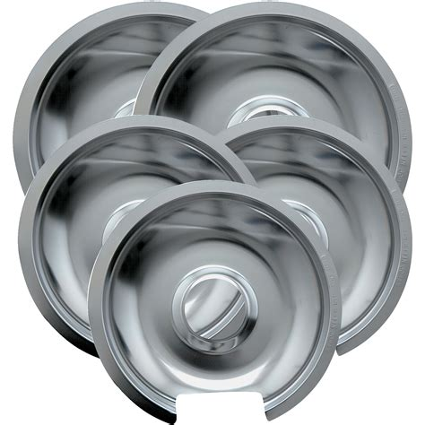 drip pans chrome range pan electric bowls kleen whirlpool frigidaire replacement bowl cooktop walmart pack duty heavy piece stove maytag