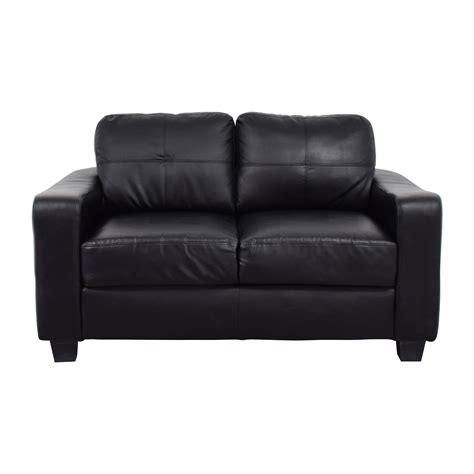 Loveseat Images by 79 Black Bonded Leather Loveseat Sofas