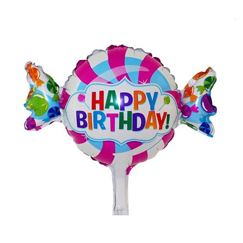 pcs cheap happy birthday foil mylar balloons candy foil