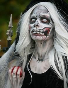 Zombie Schminken Bilder : halloween schminke hexen make up mit grusel effekt ~ Frokenaadalensverden.com Haus und Dekorationen