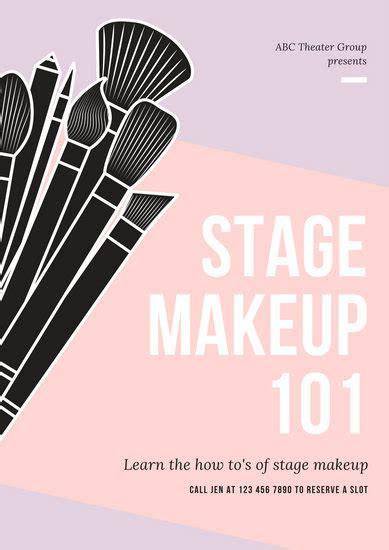 black  yellow modern beauty makeup poster templates