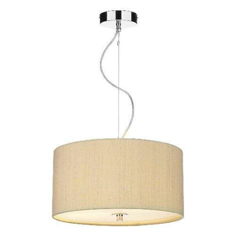 pale sea mist gold ceiling pendant light renoir silk drum