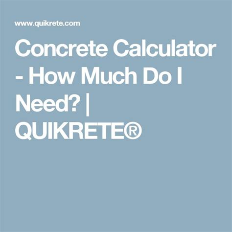25 best ideas about concrete calculator on
