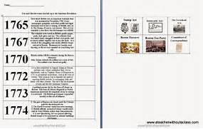 Worksheets American Revolution Timeline Worksheet american revolution timelin by teachers gone wild timeline cut paste activity