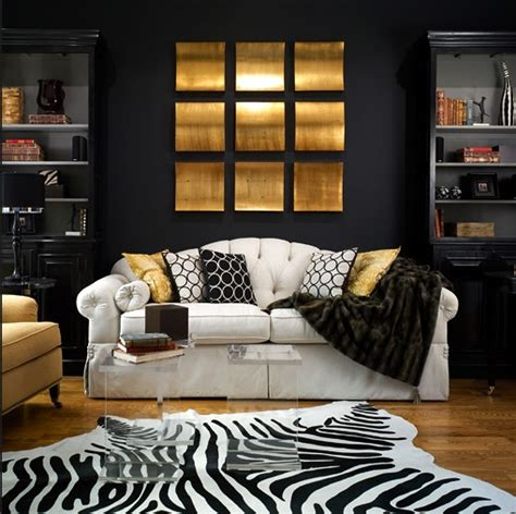 black  gold living room contemporary living room