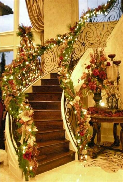 christmas stairs gh partyfood holidays pinterest