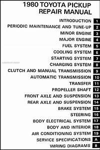 1980 Toyota Pickup Truck Repair Shop Manual Original