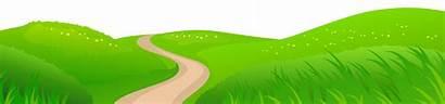 Clipart Grass Clip Transparent Road Meadow Landscape