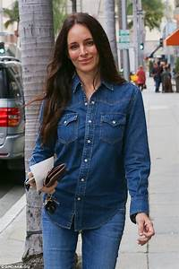 Madeleine Stowe dons double denim ensemble in Beverly ...