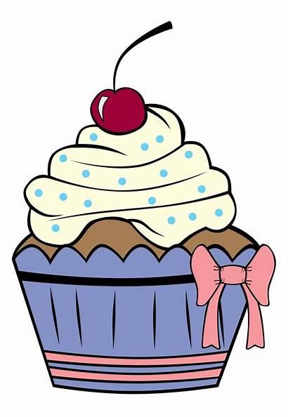 Cupcake Cupcakes Cake Outline Cartoon Birthday Clipart