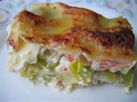 lasagnes saumon poireaux  plat delicieux facile