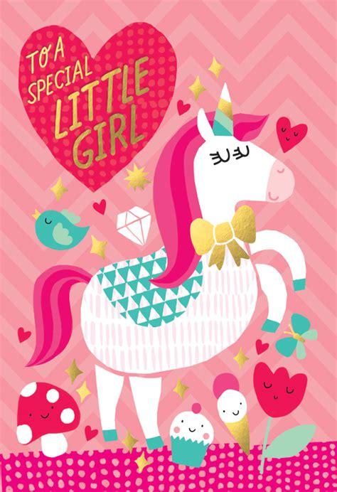 beautiful unicorn birthday card  island